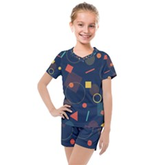 Background Geometric Kids  Mesh Tee And Shorts Set