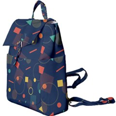 Background Geometric Buckle Everyday Backpack