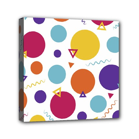 Background Polka Dot Mini Canvas 6  x 6  (Stretched)