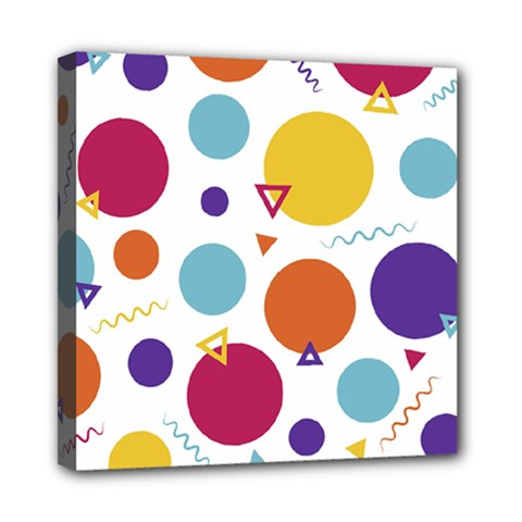 Background Polka Dot Mini Canvas 8  x 8  (Stretched)