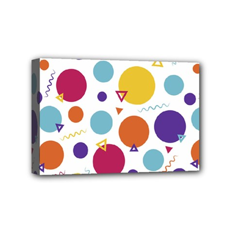 Background Polka Dot Mini Canvas 6  x 4  (Stretched)