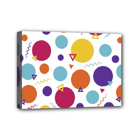 Background Polka Dot Mini Canvas 7  X 5  (stretched)