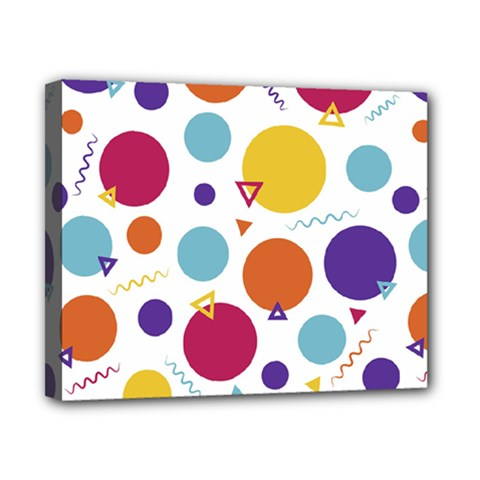 Background Polka Dot Canvas 10  x 8  (Stretched)