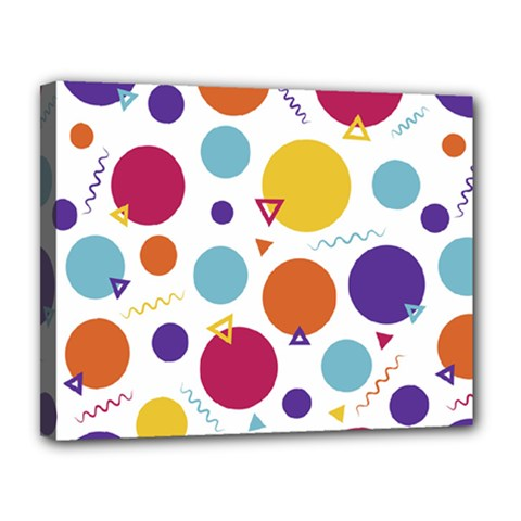 Background Polka Dot Canvas 14  x 11  (Stretched)