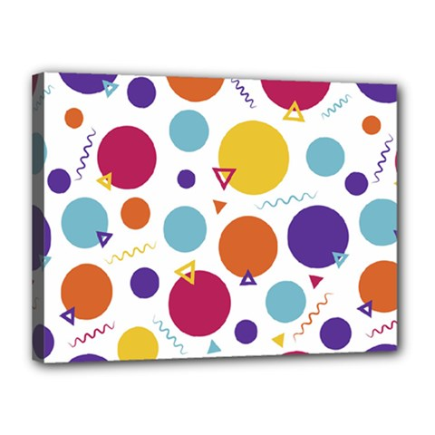 Background Polka Dot Canvas 16  x 12  (Stretched)