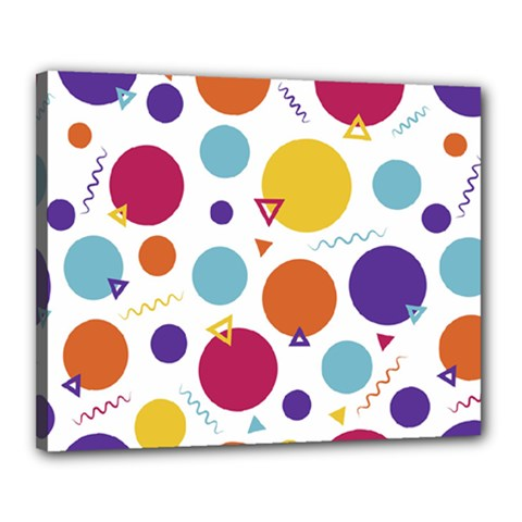 Background Polka Dot Canvas 20  x 16  (Stretched)