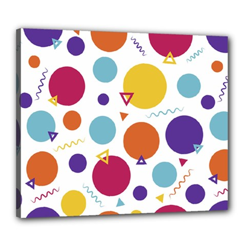 Background Polka Dot Canvas 24  x 20  (Stretched)