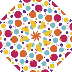 Background Polka Dot Straight Umbrellas