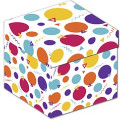 Background Polka Dot Storage Stool 12