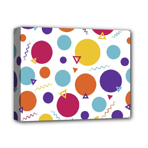 Background Polka Dot Deluxe Canvas 14  x 11  (Stretched)