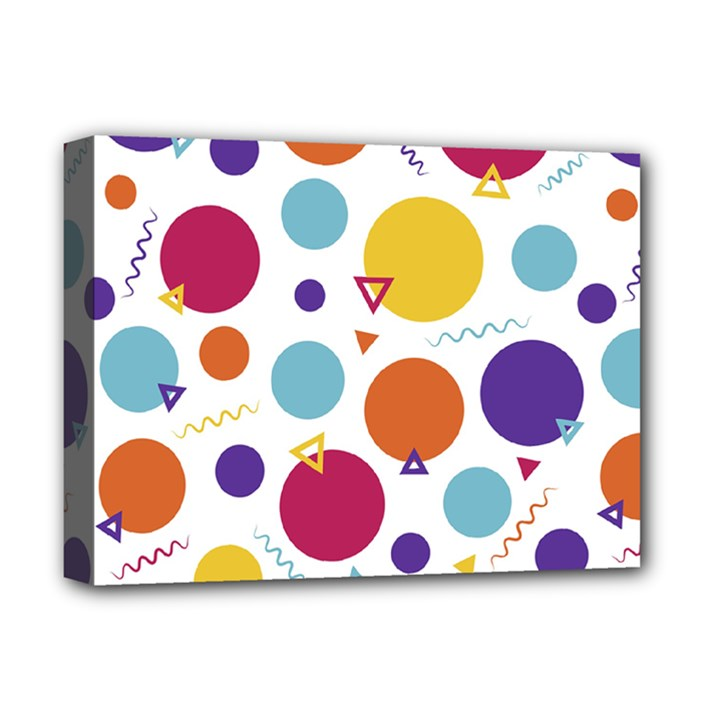 Background Polka Dot Deluxe Canvas 16  x 12  (Stretched)