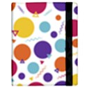 Background Polka Dot Samsung Galaxy Tab 10.1  P7500 Flip Case View3