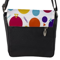 Background Polka Dot Flap Closure Messenger Bag (S)
