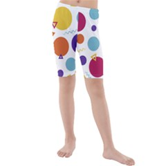 Background Polka Dot Kids  Mid Length Swim Shorts