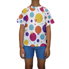 Background Polka Dot Kids  Short Sleeve Swimwear