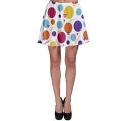 Background Polka Dot Skater Skirt