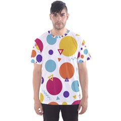 Background Polka Dot Men s Sports Mesh Tee