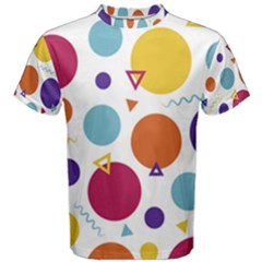Background Polka Dot Men s Cotton Tee