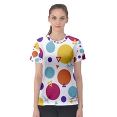 Background Polka Dot Women s Sport Mesh Tee