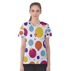 Background Polka Dot Women s Cotton Tee