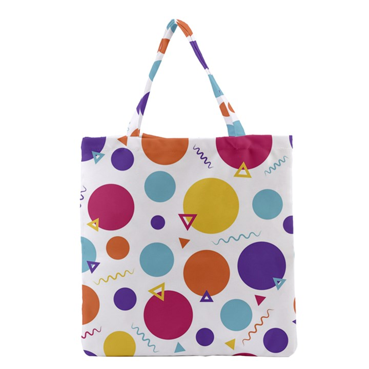 Background Polka Dot Grocery Tote Bag