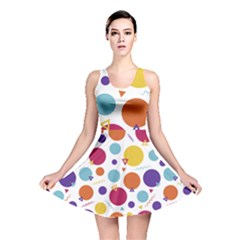 Background Polka Dot Reversible Skater Dress