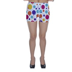 Background Polka Dot Skinny Shorts