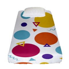 Background Polka Dot Fitted Sheet (Single Size)