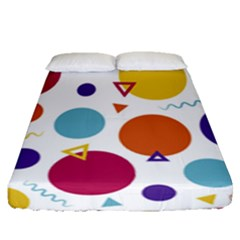 Background Polka Dot Fitted Sheet (Queen Size)
