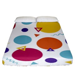 Background Polka Dot Fitted Sheet (King Size)