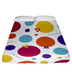 Background Polka Dot Fitted Sheet (California King Size)