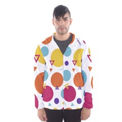Background Polka Dot Men s Hooded Windbreaker