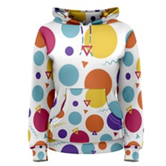 Background Polka Dot Women s Pullover Hoodie