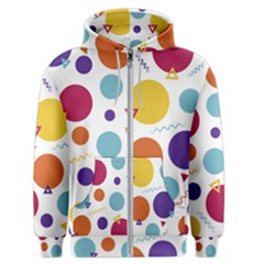Background Polka Dot Men s Zipper Hoodie