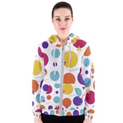 Background Polka Dot Women s Zipper Hoodie