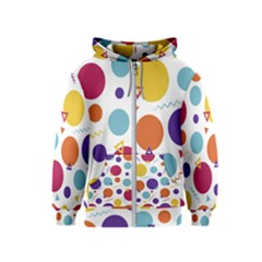 Background Polka Dot Kids  Zipper Hoodie