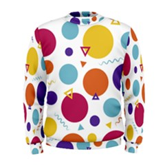 Background Polka Dot Men s Sweatshirt