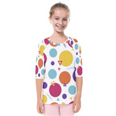 Background Polka Dot Kids  Quarter Sleeve Raglan Tee