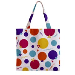 Background Polka Dot Zipper Grocery Tote Bag