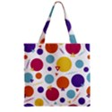 Background Polka Dot Zipper Grocery Tote Bag View2