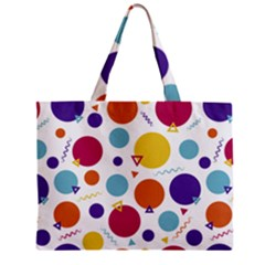 Background Polka Dot Zipper Mini Tote Bag