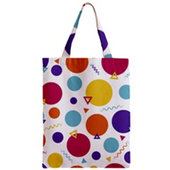 Background Polka Dot Zipper Classic Tote Bag