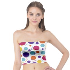 Background Polka Dot Tube Top by HermanTelo