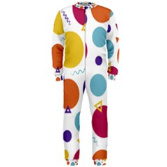 Background Polka Dot OnePiece Jumpsuit (Men)