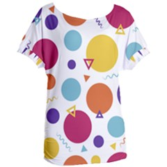 Background Polka Dot Women s Oversized Tee
