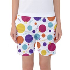 Background Polka Dot Women s Basketball Shorts