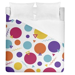 Background Polka Dot Duvet Cover (Queen Size)