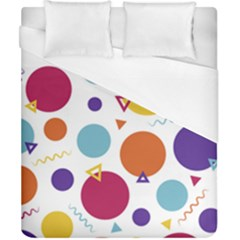 Background Polka Dot Duvet Cover (California King Size)