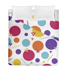 Background Polka Dot Duvet Cover Double Side (Full/ Double Size)