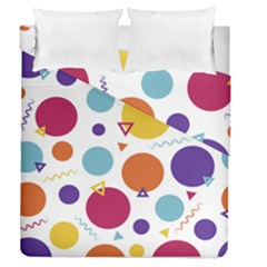 Background Polka Dot Duvet Cover Double Side (Queen Size)